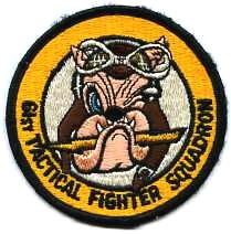 COLOR USAF 63RD TACTICAL FIGHTER SQUADRON TFS PATCH